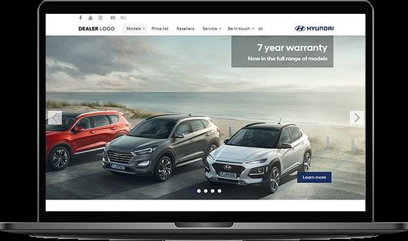 Image illustrating Hyundai's website