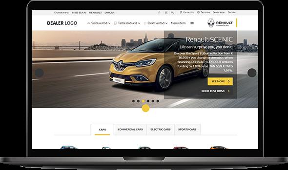 Image illustrating Renault's website
