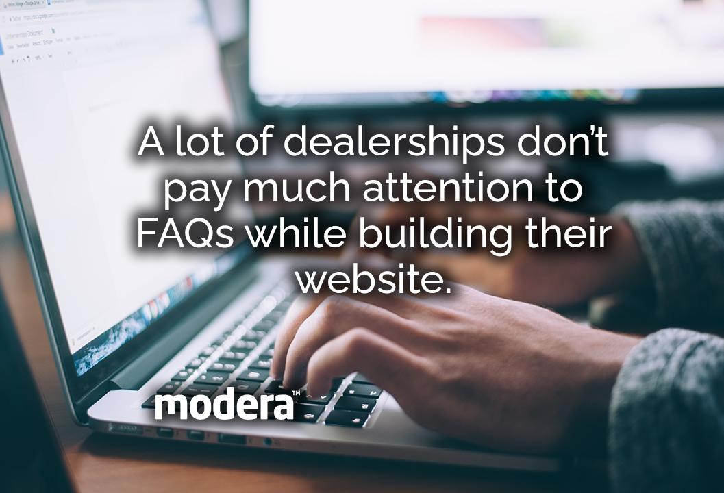 automotive dealership websites FAQ necessary