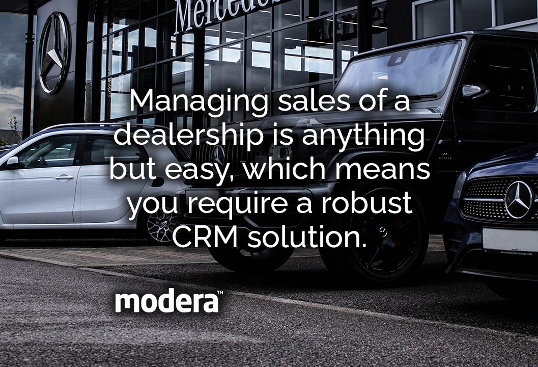 dealership website with automotive crm