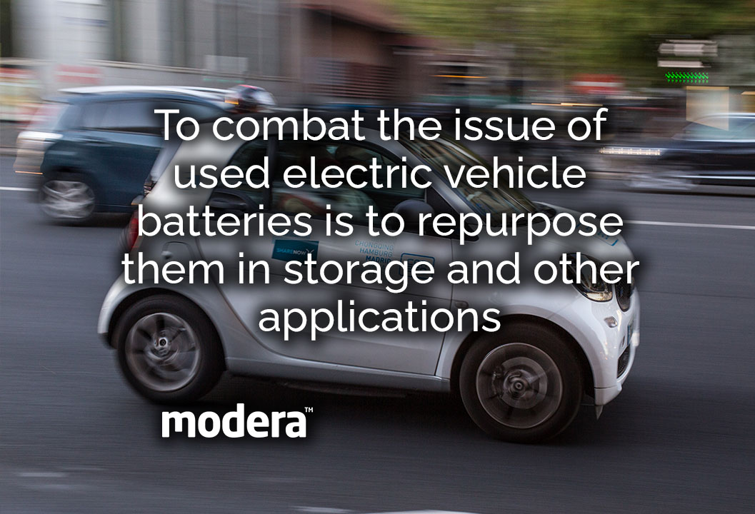 used electric vehicle batteries is to repurpose